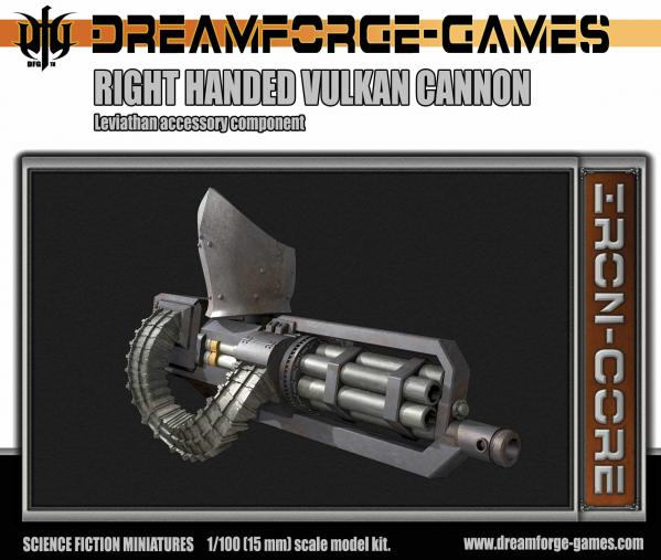 Dreamforge Games: Leviathan (15mm Version)- Right Handed Vulkcan Cannon