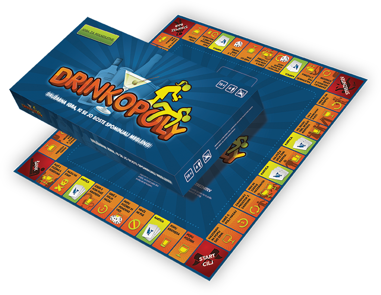 Drinkopoly: The Blurriest Game Ever [Damaged]