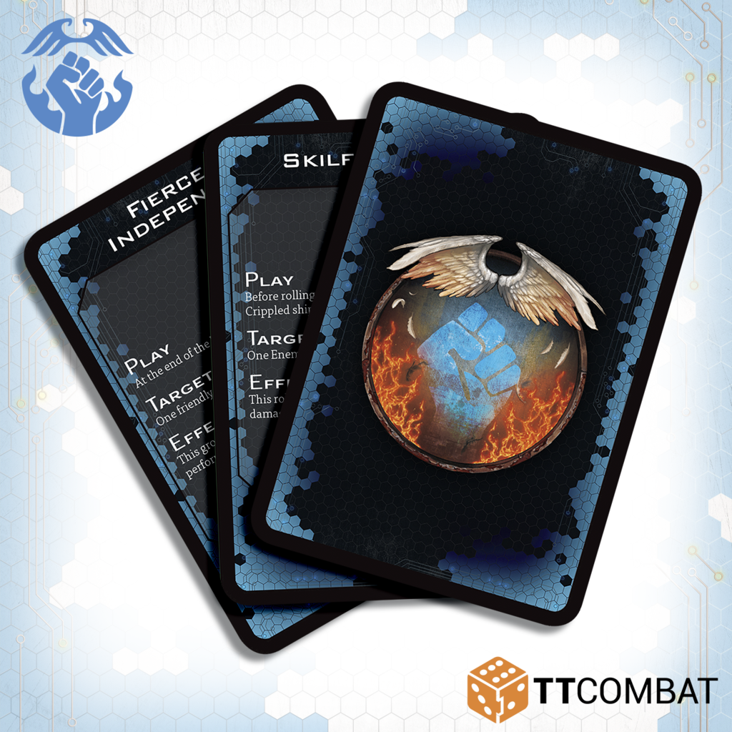 Drop Fleet Commander: Resistance Command Cards