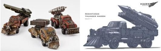 Dropzone Commander: The Resistance: Storm Wagon/Thunder Wagon Variant