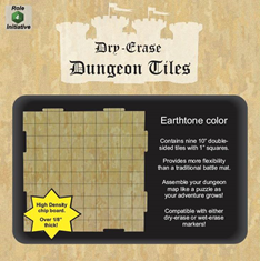 Dry Erase Dungeon Tiles: 10 Interlocking (9) (Earthtone)