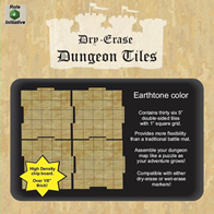 Dry Erase Dungeon Tiles: 5 Interlocking (36) (Earthtone)