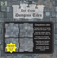 Dry Erase Dungeon Tiles: 5 Interlocking (36) (Graystone)