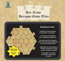 Dry Erase Dungeon Tiles: Hexagon (Earthtone)