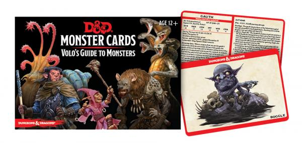 Dungeons & Dragons (5th Ed): Monster Cards- Volos Guide to Monsters