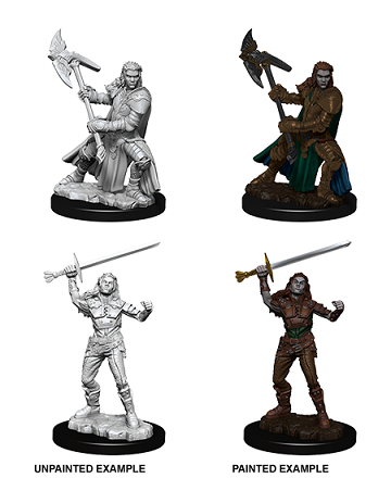 Dungeons & Dragons Nolzur's Marvelous Miniatures: FEMALE HALF-ORC FIGHTER