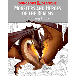 Dungeons & Dragons (5th Ed.): Monsters and Heroes of the Realms- Coloring Book