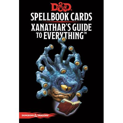 Dungeons & Dragons (5th Ed.): Spellbook Cards- Xanathars Guide To Everything [Damaged]