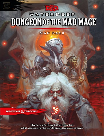 Dungeons & Dragons (5th Ed.): Waterdeep Dungeon Of The Mad Mage- Map Pack