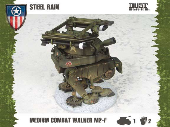 Dust Tactics/ Warfare: Allied: Medium Assault Walker - Steel Rain