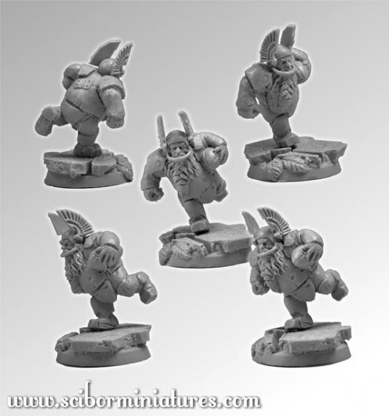 Scibor Monstrous Miniatures: Fantasy Football: Dwarf Player #3