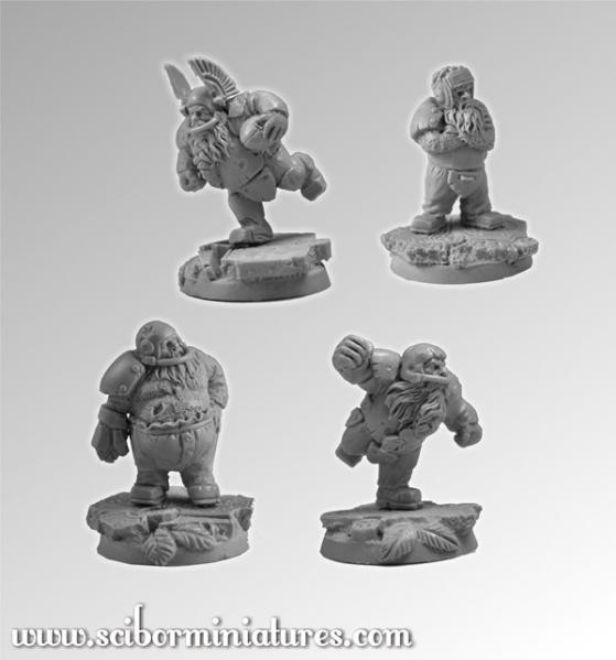Scibor Monstrous Miniatures: Fantasy Football: Dwarves Players Set #1