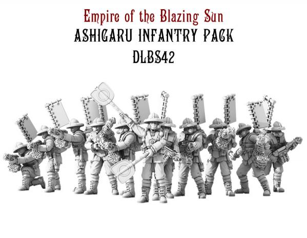 Dystopian Legions: Empire of the Blazing Sun: Ashigaru Infantry Pack [SALE]