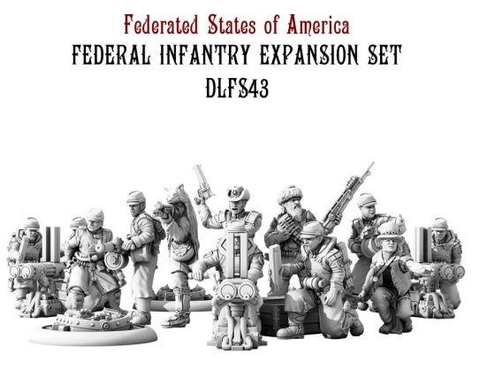 Dystopian Legions: Federated States of America: Federal Infantry Expansion Set [SALE]