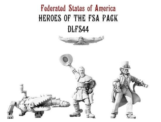 Dystopian Legions: Federated States of America: Heroes of the FSA Pack [SALE]