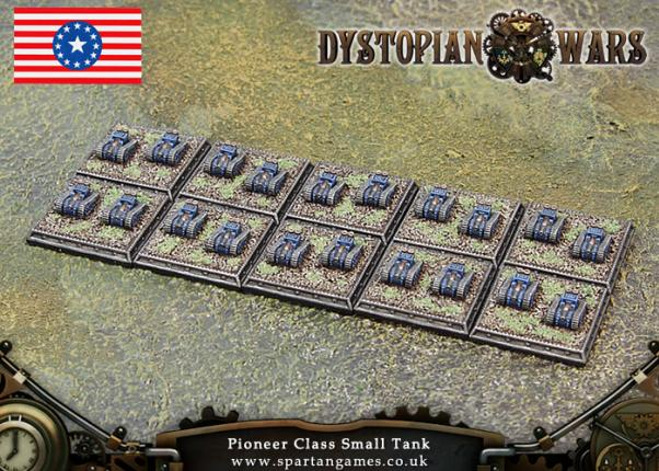 Dystopian Wars: Federated States Of America: Pioneer Class Small Tank