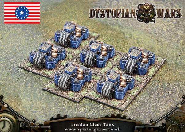 Dystopian Wars: Federated States Of America: Trenton Class Tank