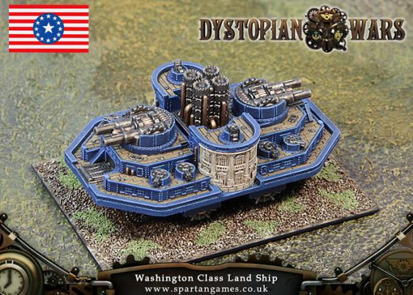 Dystopian Wars: Federated States Of America: Washington Class Land Ship