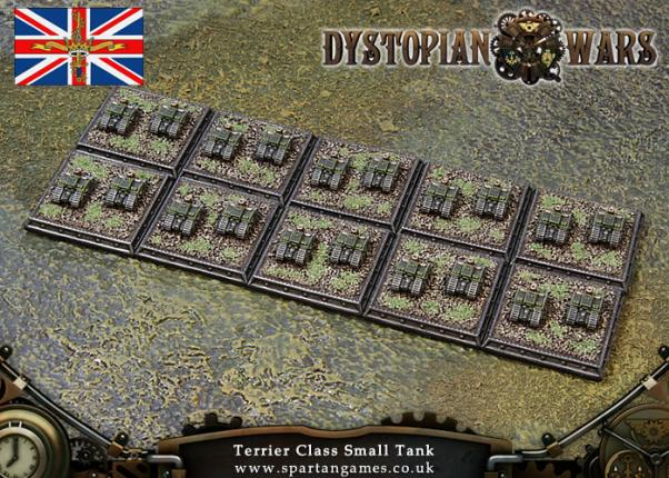 Dystopian Wars: Kingdom of Britannia: Terrier Class Small Tank