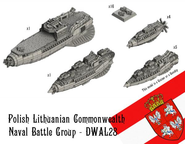 Dystopian Wars: Polish-Lithuanian Commonwealth: Naval Battle Group
