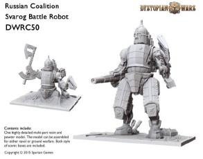 Dystopian Wars: Russian Coalition: Svarog Battle Robot