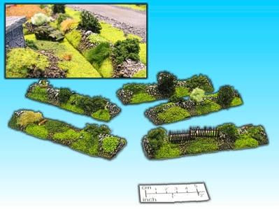 Elso: 15mm Finished Terrain: Hedgerow Set