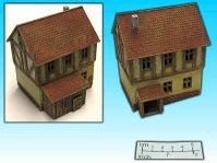 Elso: 15mm Finished Terrain: Half Timbered House 1