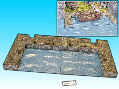 Elso: 28mm Finished Terrain: Harbor (Ship Port)