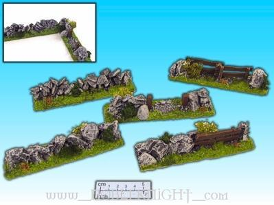 Elso: 28mm Finished Terrain: Hedgerow Set