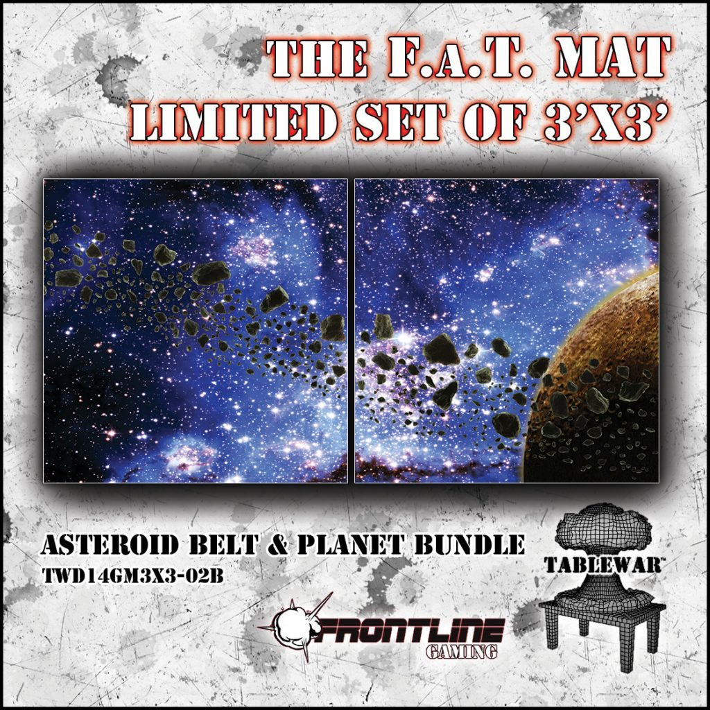 F.A.T. Mats: Asteroid Belt & Planet Bundle 3×3 Set [Limited Edition] (Store Demo)