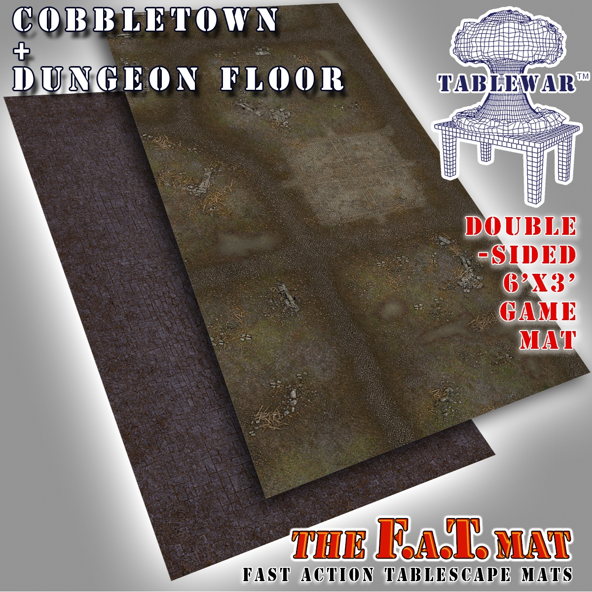 F.A.T. Mats: Cobbletown + Dungeon Floor 6×3