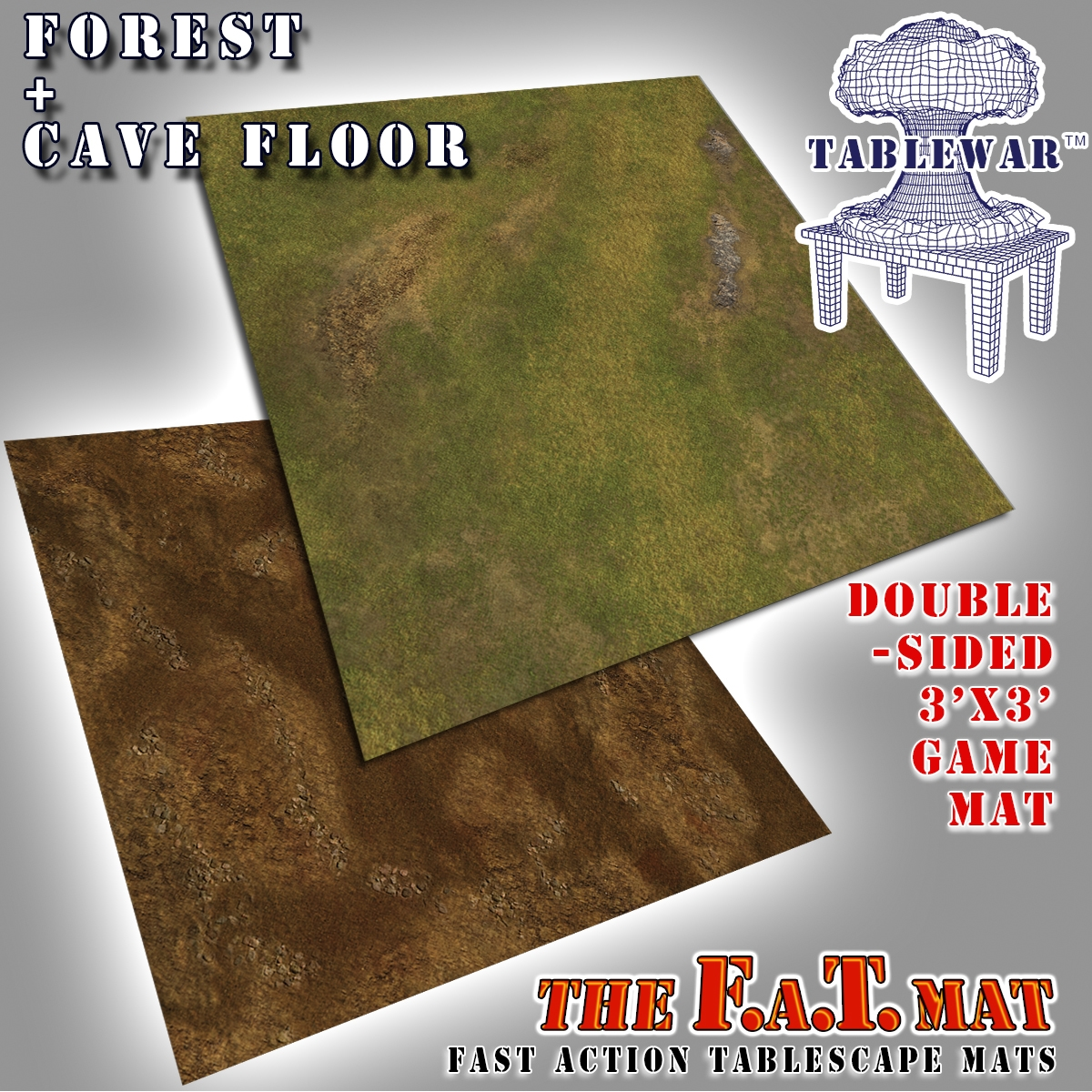 F.A.T. Mats: Forest + Cave Floor 3×3