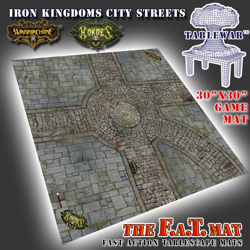 "F.A.T. Mats: Iron Kingdoms City Streets 30""x30"""