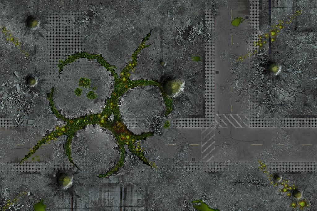 Frontline Gaming Flg Mats Urban Plague 6x4 Flg Mats