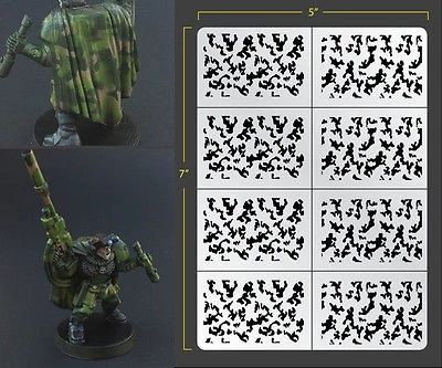 Fallout Hobbies Airbrush Stencil: Infantry Traditional Camo