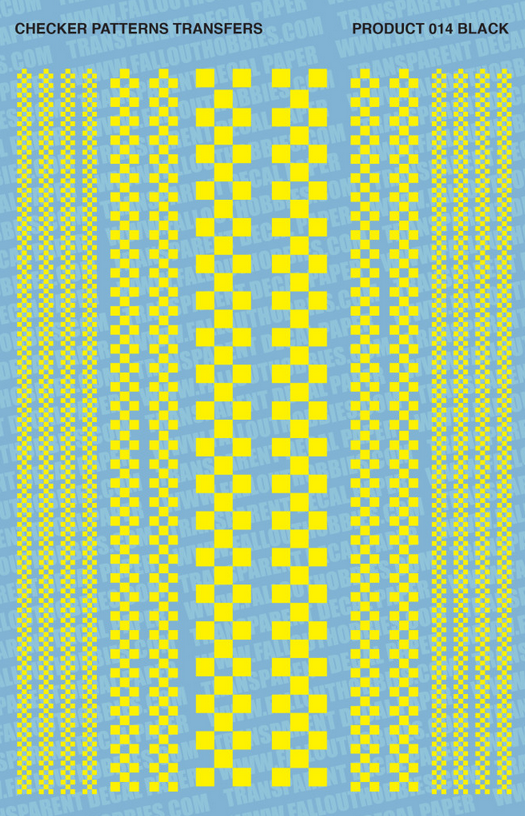 Fallout Hobbies Decals: Checker Patterns Color 2 (Yella)