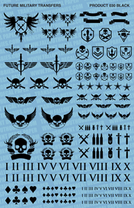 Fallout Hobbies Decals: Future Military (Black)
