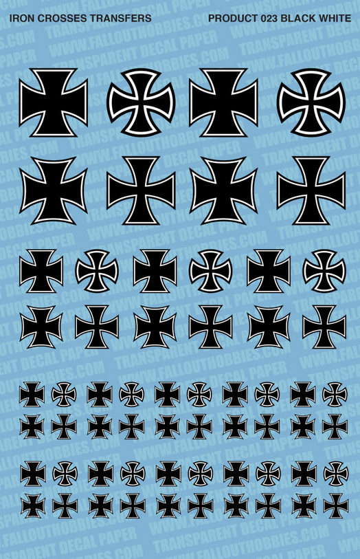 Fallout Hobbies Decals: Iron Crosses (Black)