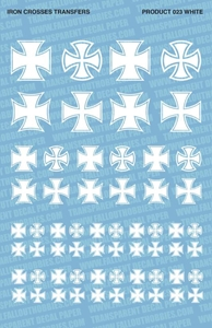 Fallout Hobbies Decals: Iron Crosses (White)