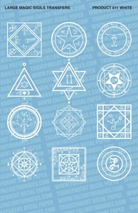Fallout Hobbies Decals: Large Magic Sigils 1 (White)