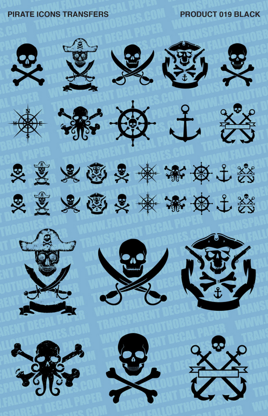 Fallout Hobbies Decals: Pirates (Black)