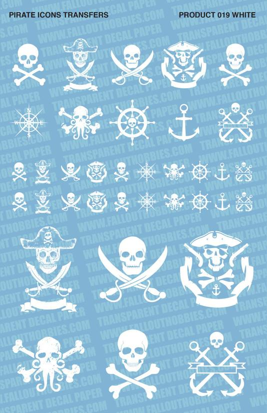 Fallout Hobbies Decals: Pirates (White)
