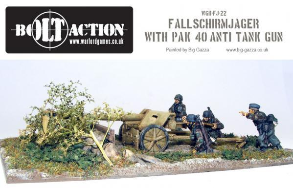 Bolt Action: German: Fallschirmjager with PAK 40 Anti Tank Gun