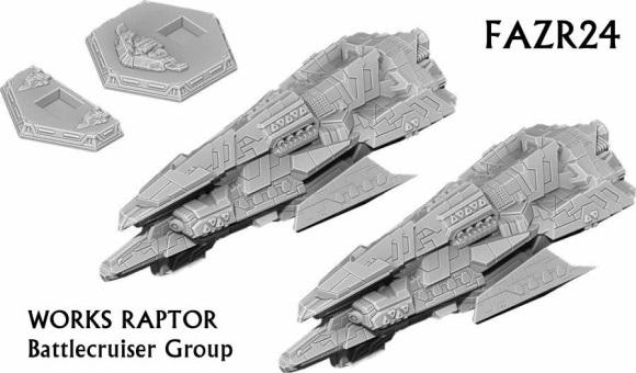Firestorm Armada: Works Raptor Battlecruiser Group