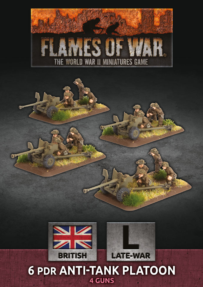 Flames of War: British: 6 pdr Anti-Tank Platoon (BBX54)