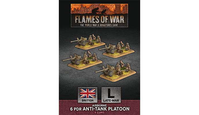 Flames of War: British: (Airborne) 6 pdr Anti-Tank Platoon (BBX51)