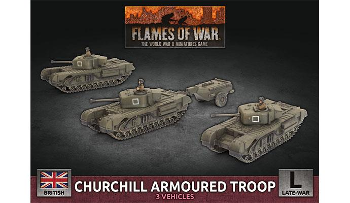 Flames of War: British: Churchill Armoured Troop [Plastic]
