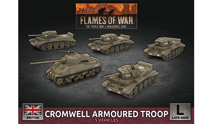 Flames of War: British: Cromwell Armoured Troop [Plastic]
