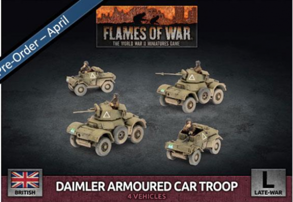 Flames of War: British: Daimler Armoured Car Troop