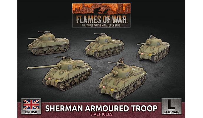 Flames of War: British: Sherman Armoured Troop [Plastic]